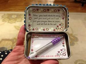 A Traveler's Dream: DIY Altoid Tin Prayer Boxes