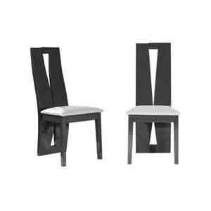 chaise de salle 224 manger blanche et grise moderne