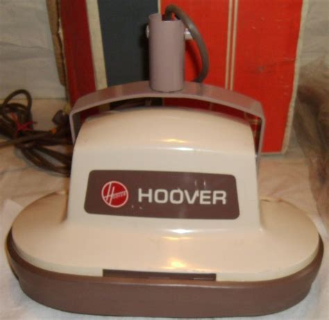 vintage hoover floor scrubber polisher buffer 5140 w brushes pads box manual ebay