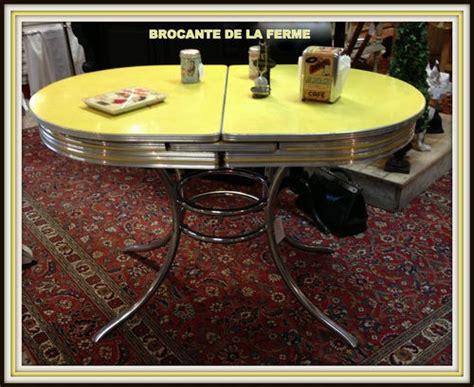 et authentique table en formica et inox americaine des annees 50 vintage kitsch