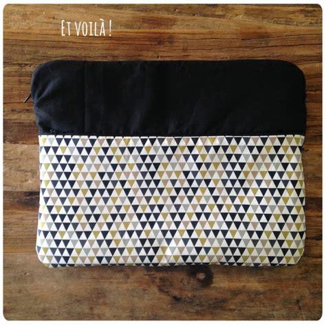 tutoriel pochette ordinateur portable tricot crochet couture