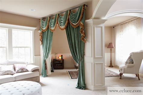 swag curtains for living room green chenille swag valance curtains by celuce