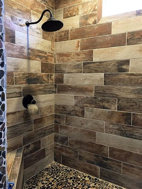 25 best ideas about wood tile shower on