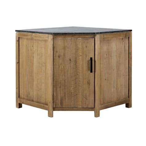 meuble bas d angle de cuisine ouverture gauche en bois recycl 233 l 97 cm pagnol maisons du monde