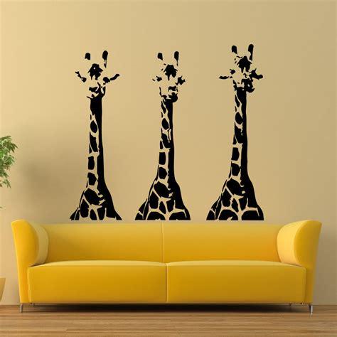 wall vinyl decals giraffe animals jungle safari decal