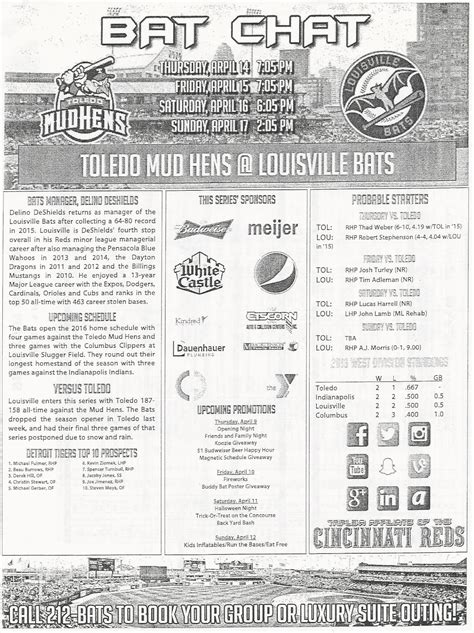 Ticket Template Gameday by The Baseball Enthusiast 4 14 2016 Toledo Mud Hens 2