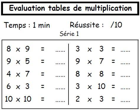 exercice de table multiplication