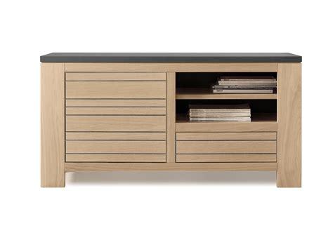 acheter votre meuble t 233 l 233 en ch 234 ne bicolore blanchis plateau chez simeuble