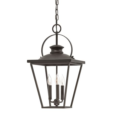 shop kichler arena cove 12 01 in olde bronze country cottage single cage pendant at lowes