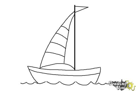 How To Draw A Dragon Boat by How To Draw A Simple Boat Drawingnow