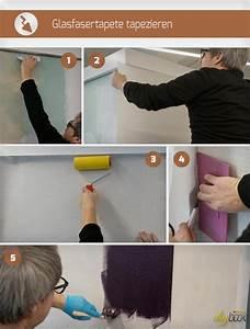 Möbel Tapezieren Anleitung : glasfasertapete tapezieren und streichen anleitung ~ Markanthonyermac.com Haus und Dekorationen