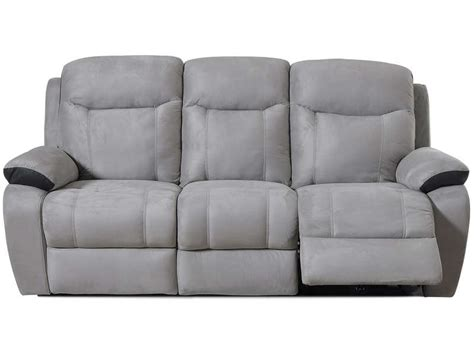 canape relax 233 lectrique 3 places bradley coloris blanc gris clair prix promo canap 233 conforama