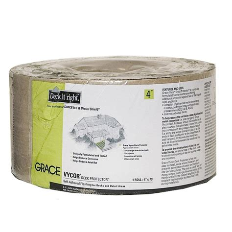 grace vycor 4 in deck protector 5003029 the home depot