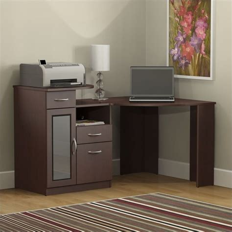 bush vantage corner home office harvest cherry computer desk ebay