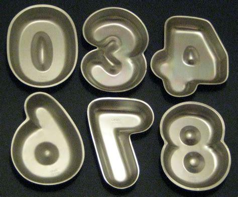 sold 1976 wilton 9 inch number cake pan lot of 6 zero