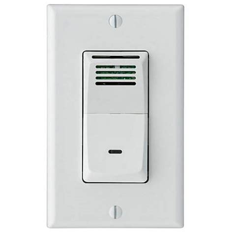 sensaire humidity sensing wall switch for bath exhaust fan 9g549 ls plus