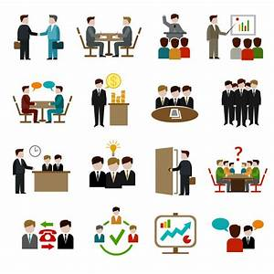Meeting Icons Set Vector   Free Download