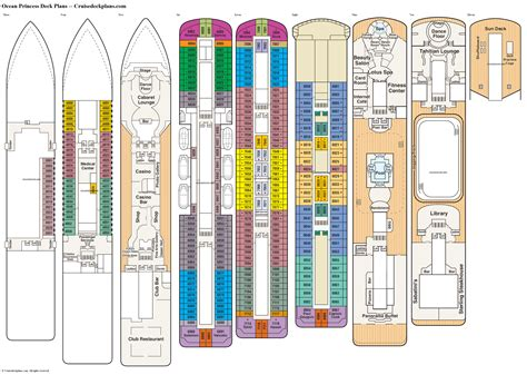 princess deck plans diagrams pictures