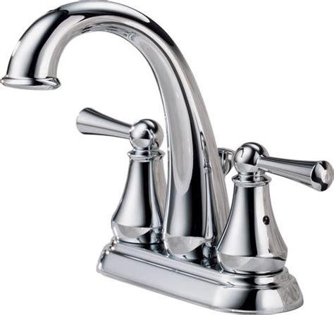 delta 174 lewiston 174 4 in 2 handle high arc bathroom sink