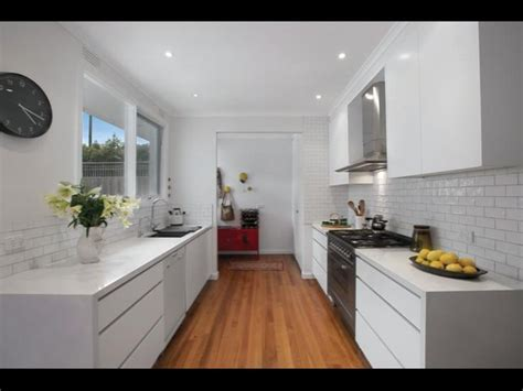 Modern White Galley Kitchen  Kitchens  Pinterest