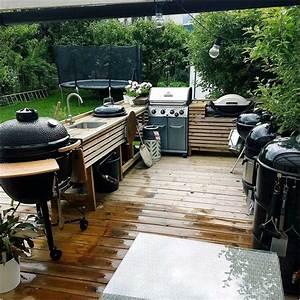 Grill Aus Edelstahl Selber Bauen : bild outdoor k che garten k che holz arbeitsplatte lapazca ~ Markanthonyermac.com Haus und Dekorationen