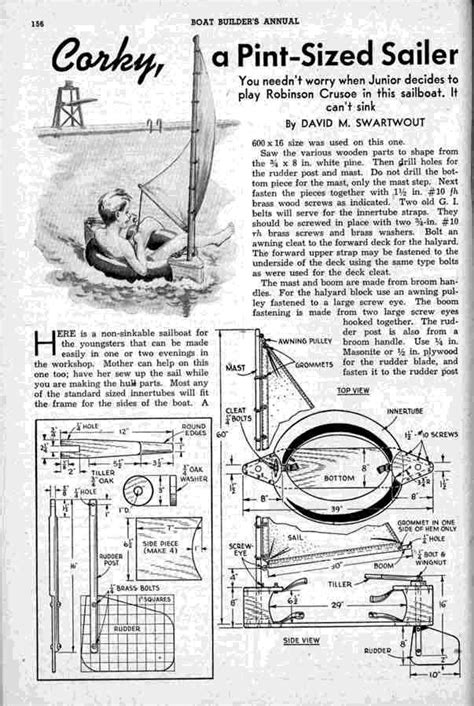 Inner Tube Sailboat by Free Wooden Boat Plans For Other Sailboats