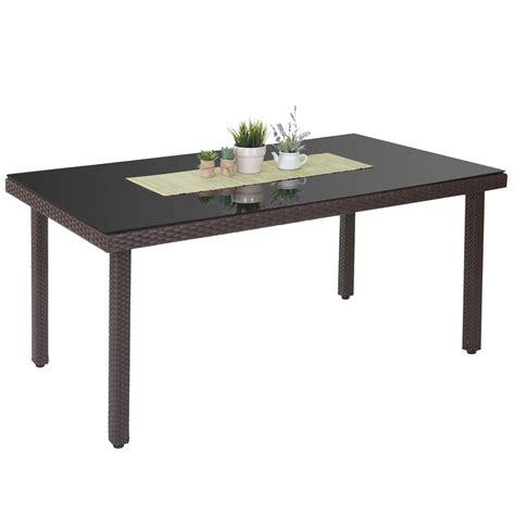 Polyrattan Gartentisch Cava, Esstisch Tisch Mit