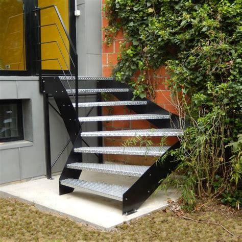 escalier d ext 233 rieur des escaliers en bois alu acier avec re c 244 t 233 maison