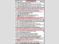 Pravoslavni crkveni kalendar za 2015 09