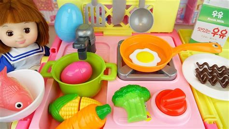 Baby Doli And Cart Kitchen Car Toy Baby Doll Food And S