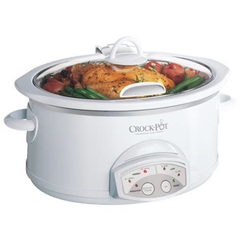 crock pot 5 7 litres cooker scvp600hw cn white best buy toronto