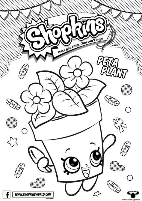 coloriage shopkins peta plant dessin 224 imprimer coloriages et techniques de dessin