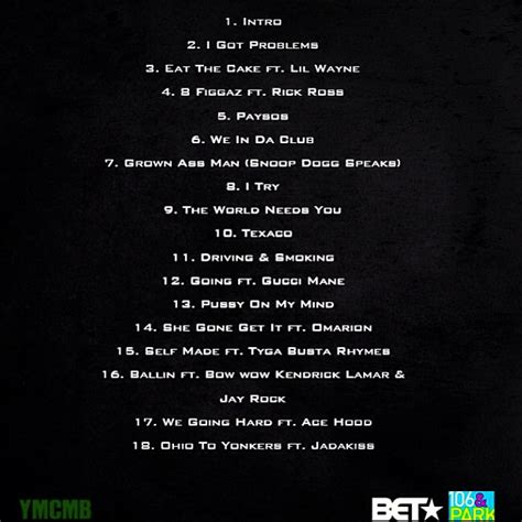 No Ceilings Mixtape Tracklist by Bow Wow Greenlight 5 Mixtape Tracklist