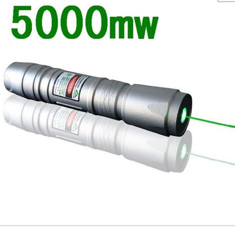 new 5000mw green laser flashlight green laser pointers silver shell 5000 meters range