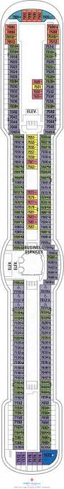 brilliance of the seas deck plans deck 7 what s on