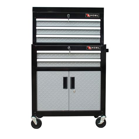 excel chest and roller cabinet combo tool chests cabinets at hayneedle
