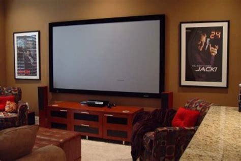 Media Rooms With Big Screen Tv