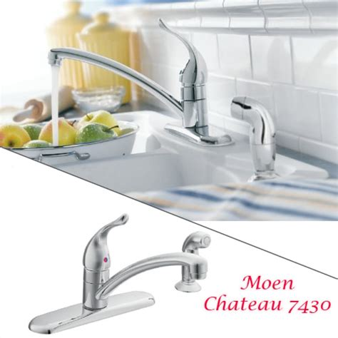 moen chateau 7430 chrome one handle low arc pullout