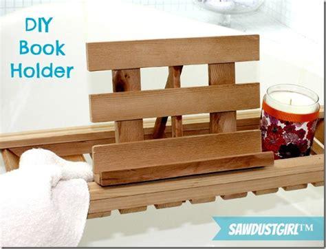 diy book holder for bath caddies sawdust 174