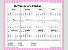 Download Free 2019 Calendar Kuwait Holiday November 2019