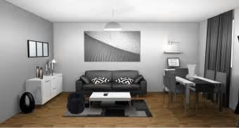 deco peinture salon gris et blanc