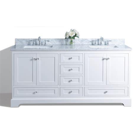 shop ancerre designs white undermount sink bathroom vanity with marble top