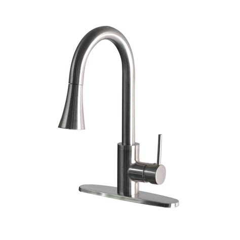 foret modern single handle pull sprayer kitchen faucet in stainless steel ss