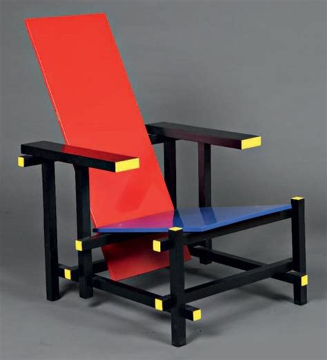 gerrit rietveld and blue chaise longue en bois laqu 233 polychrome