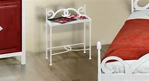 Nachttisch Weiß Metall : nachttisch aus metall in anthrazit mit glasablage temco ~ Markanthonyermac.com Haus und Dekorationen