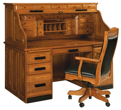 Dean's Deluxe Roll Top Desk  Countryside Amish Furniture. Refrigerated Prep Table. Solid Oak End Tables. Bar Island Table. How To Clean A Desk. Analog Desk Clock. How To Make A Drawer Front. Diy Home Office Desk Ideas. Kitchen Island With Pull Out Table