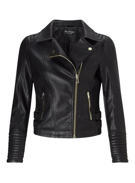 Black Elsy Faux Leather Biker Jacket #yourweekoffashion