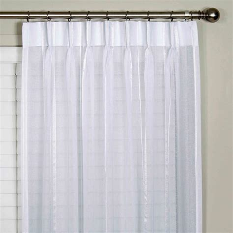 buy bergamo striped sheer pinch pleat curtains