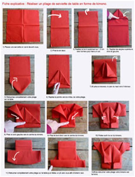 pliage en papier r 233 aliser un kimono en papier pliage de serviette de table en forme kimono plier