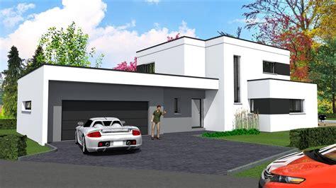 maison 192 toit plat contemporaine maison moderne
